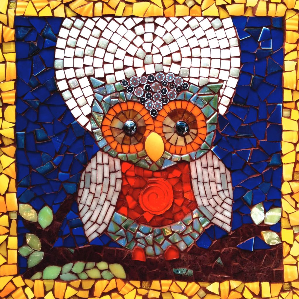 Mosaic Owl Photo with FIMO beads